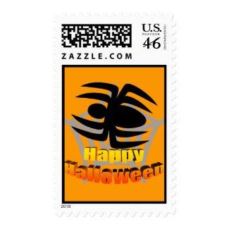 Happy Halloween Spider Web stamp