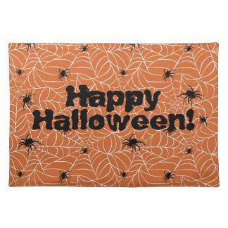 Happy Halloween Spiders Placemat