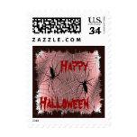 Happy Halloween Spiders Postage Stamps Stamp