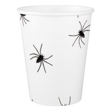 Halloween Themed Happy Halloween Spiders Scary Paper Cup