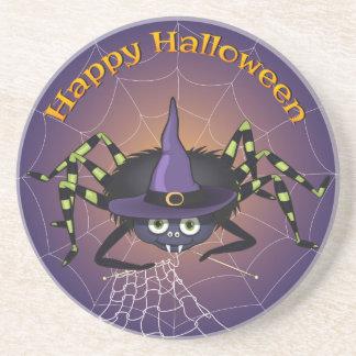 Happy Halloween Spiderwitch Coaster