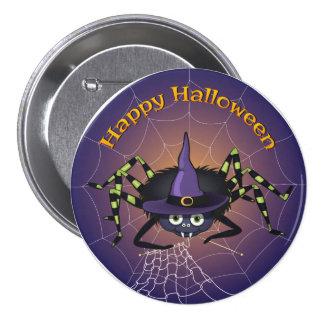 Happy Halloween Spiderwitch Pinback Button