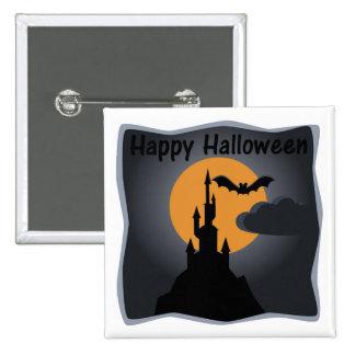 Happy Halloween Spooky Castle Button