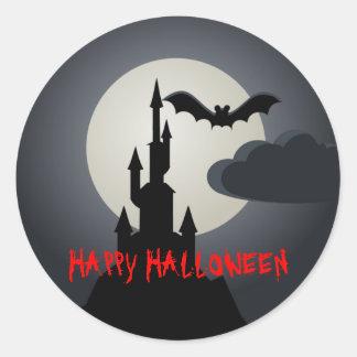 Happy Halloween Spooky Castle Sticker