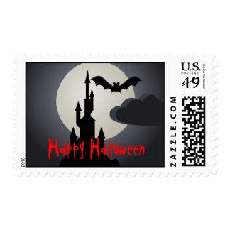 Happy Halloween Spooky Castle US Postage Stamp