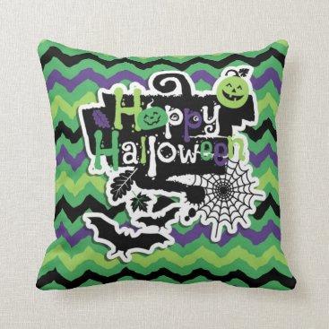 Halloween Themed Happy Halloween Spooky Fun Throw Pillow
