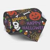 Happy Halloween spooky graphic Neck Tie