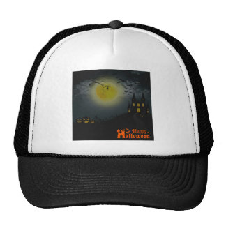 Happy Halloween Spooky House Trucker Hat