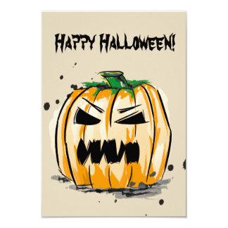 Happy Halloween Spooky Pumpkin Card
