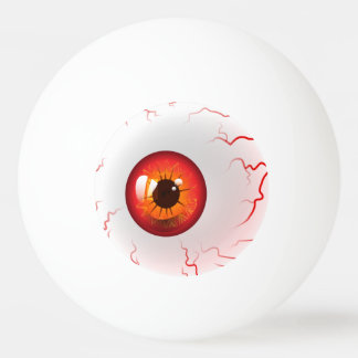 happy halloween spooky red eyeball ping pong ball - Halloween Ping Pong Balls
