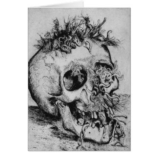 Happy Halloween Spooky Skull Card