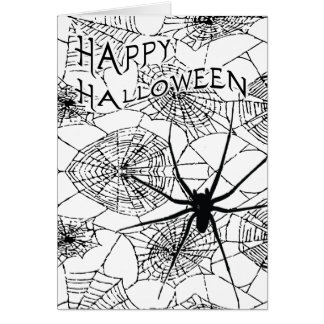 happy halloween (spooky spider) card