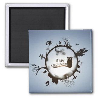 Happy Halloween Spooky Themed Magnet