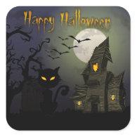 Happy Halloween Square Stickers