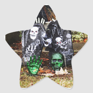 Happy Halloween Star Sticker