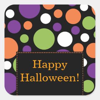 Happy Halloween Sticker Fun Bright Dots