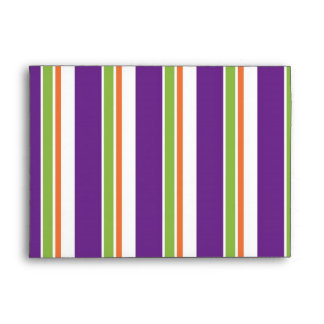 Happy Halloween Stripes Envelope