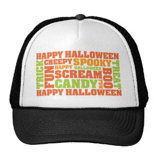 Happy Halloween Stylish Text Art Hats