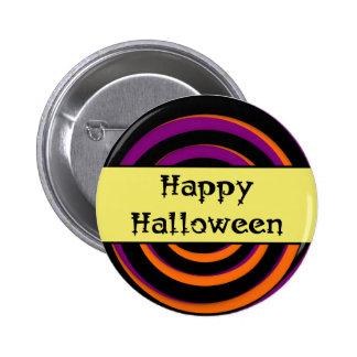 Happy Halloween Swirl Candy Button