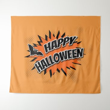 Halloween Themed Happy Halloween Tapestry