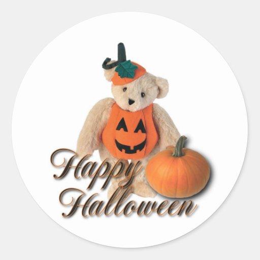 Happy Halloween teddy bear sticker