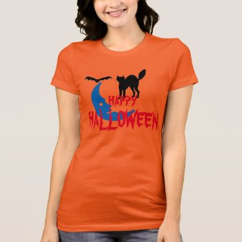 Happy Halloween Tee Shirt Design by creativeconceptss at Zazzle