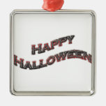 Happy Halloween Text Christmas Ornament