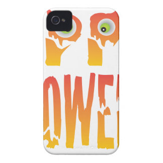 Happy Halloween Text Illustration Case-Mate iPhone 4 Case