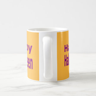 Happy Halloween Text In Purple Coffee Mug