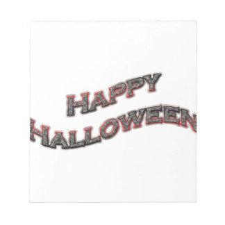 Happy Halloween Text Memo Pads