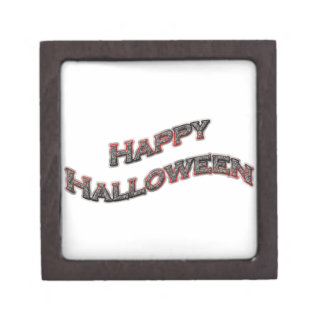 Happy Halloween Text Premium Keepsake Boxes