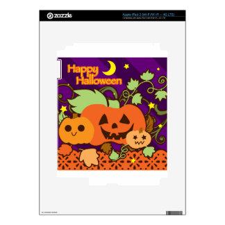 Happy Halloween Three Cute Jack o Lanterns iPad 3 Decals