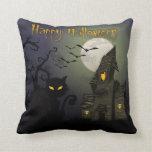 Happy Halloween Throw Pillows