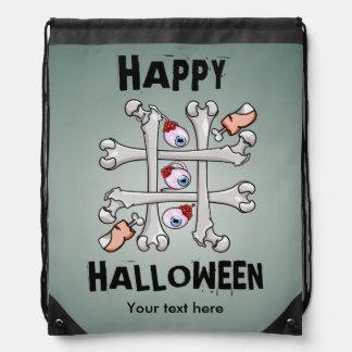 Happy Halloween Tic Tack Real Toes Drawstring Backpack