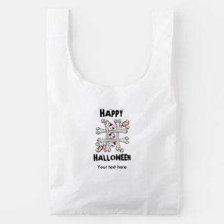 Happy Halloween Tic Tack Real Toes Reusable Bag