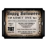 Happy Halloween Ticket Invitation