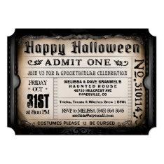 Happy Halloween Ticket Invitation at Zazzle