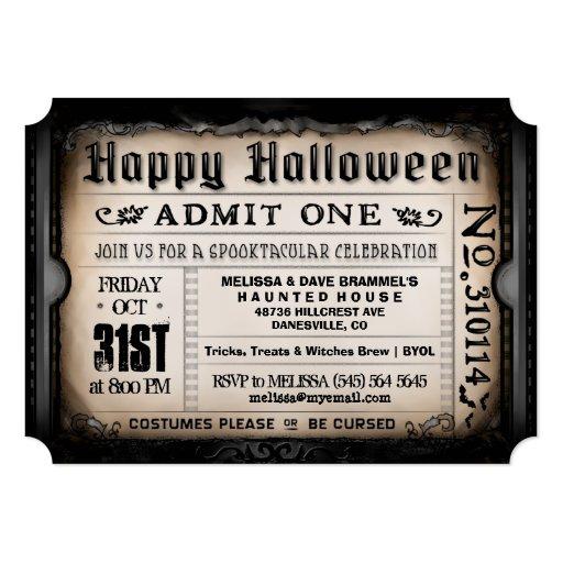 Image Happy Halloween Ticket Invitation