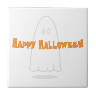 Happy Halloween Small Square Tile