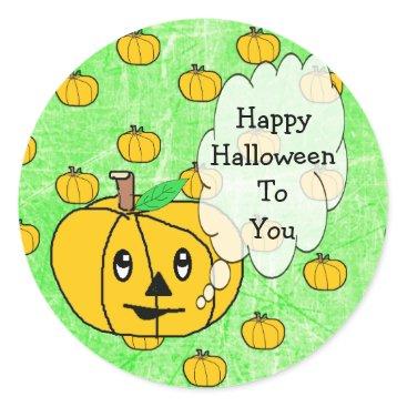 Halloween Themed Happy Halloween To You Cute Pumpkin Stickers