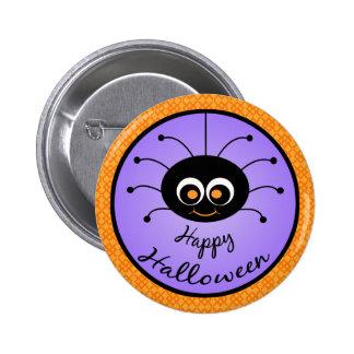 Happy Halloween Toon Spider Button