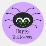 Happy Halloween Toon Spider Sticker