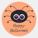 Happy Halloween Toon Spider Sticker 2