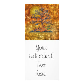 happy halloween tree personalized rack card