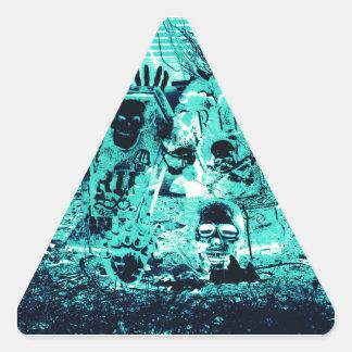 Happy Halloween Triangle Sticker