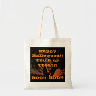 Happy Halloween Trick or Treat Bag!!! Budget Tote Bag