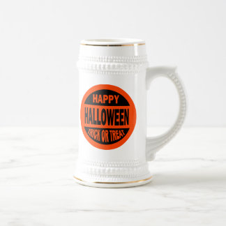 Happy Halloween Trick or Treat Beer Stein