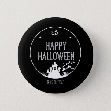 Halloween Themed Happy Halloween Trick Or Treat Button