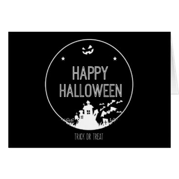 Halloween Themed Happy Halloween Trick Or Treat Card