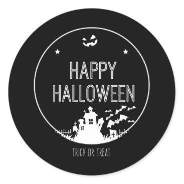 Halloween Themed Happy Halloween Trick Or Treat Classic Round Sticker
